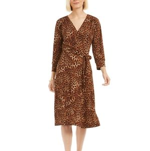 LEOPARD 🐆 PRINT REVERSIBLE WRAP DRESS